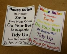 House Rules Printed Wall Sticker